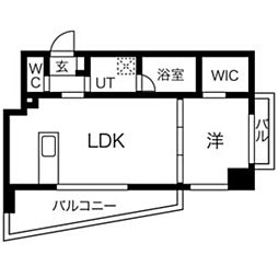KRISKAR 5階1LDKの間取り