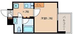 TOKIO久米川タワー 5階1Kの間取り
