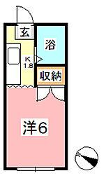 エフシリーズ日ノ出町 A[207号室]の間取り