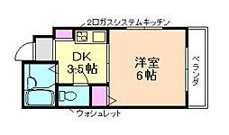 大阪府豊中市曽根東町5丁目の賃貸マンションの間取り