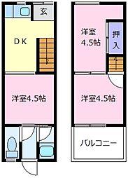 [一戸建] 大阪府松原市天美東2丁目 の賃貸【/】の間取り