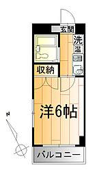 ベルビー川崎[6階]の間取り