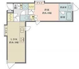 Solana Takanawadai 3階1LDKの間取り
