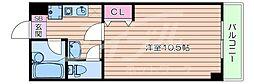 北大阪急行電鉄 緑地公園駅 徒歩5分の賃貸マンション 2階1Kの間取り