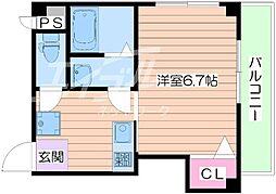 シャルム千林三番館[1階]の間取り