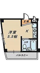 ハイツファミール[2階]の間取り
