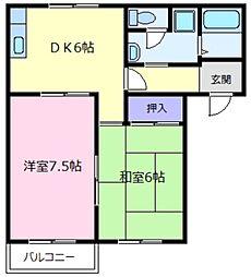 ロゼハイム[2階]の間取り