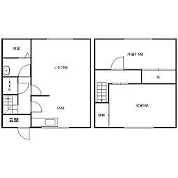 [テラスハウス] 北海道札幌市中央区宮の森二条16丁目 の賃貸【/】の間取り