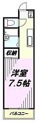 ホワイトビュー富士[2階]の間取り