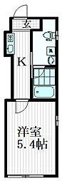 東急東横線 学芸大学駅 徒歩2分の賃貸マンション 3階1Kの間取り
