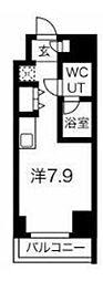 JR京浜東北・根岸線 川崎駅 徒歩4分の賃貸マンション 8階ワンルームの間取り