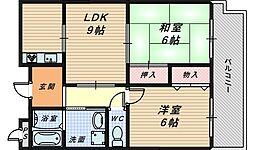 ノーサイドスクエア[3階]の間取り
