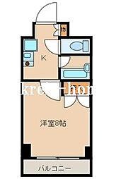 東京都千代田区神田佐久間町3丁目の賃貸マンションの間取り