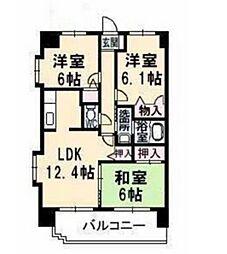サンルーフパークマンション[6階]の間取り