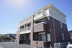 栃木県宇都宮市岩曽町の賃貸アパートの外観