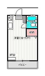 エステート和泉[1階]の間取り