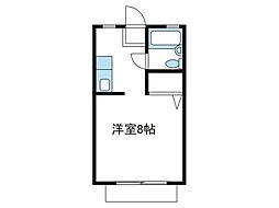 神奈川県座間市相武台3丁目の賃貸アパートの間取り
