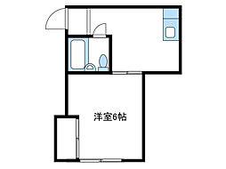 神奈川県伊勢原市高森の賃貸アパートの間取り