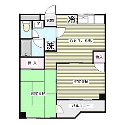 第3飯島ハイツ[5階]の間取り