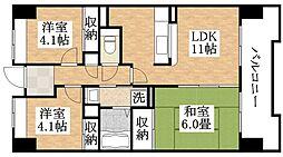 サニークレスト平野西脇[9階]の間取り