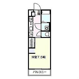 リブリ・サンモール戸塚 2階1Kの間取り
