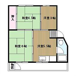 竹山第2[2階]の間取り