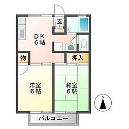 プリマベーラC[1階]の間取り