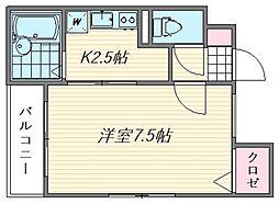 プチ・メゾンI[302号室]の間取り