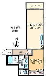 (仮称)江東橋2丁目メゾン 3階1LDKの間取り