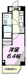 東京都八王子市旭町の賃貸マンションの間取り