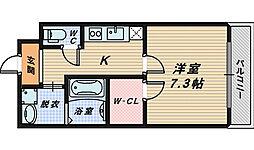 大阪府堺市西区浜寺石津町西3丁の賃貸アパートの間取り