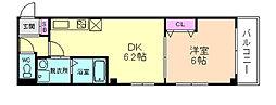 アパートメント玉川[3階]の間取り