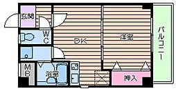 大阪府大阪市生野区小路東1丁目の賃貸マンションの間取り