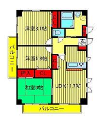 AXIS KASHIWA(アクシス柏)[1階]の間取り