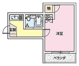 ラピュタ2〜[3階]の間取り