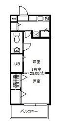 モントーレ六本松[203号室]の間取り