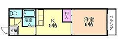 ライフスペースキャノン[7階]の間取り