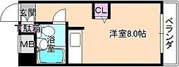 大阪府枚方市磯島南町の賃貸マンションの間取り
