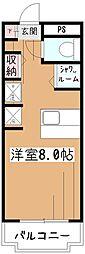 ジュネス萩山[2階]の間取り