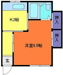 吉井コーポ[1階]の間取り
