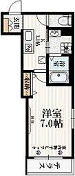 JR中央線 阿佐ヶ谷駅 徒歩5分の賃貸マンション 1階1Kの間取り