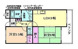 大阪府豊中市庄内宝町1丁目の賃貸マンションの間取り