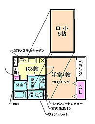 オーキッドコート[1階]の間取り