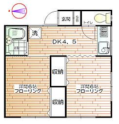 グリーンハウス[2階]の間取り