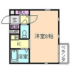 サンライズファースト[2階]の間取り