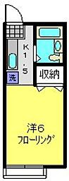 アバンス常盤台2[205号室]の間取り
