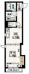 都営大江戸線 牛込神楽坂駅 徒歩7分の賃貸マンション 3階1DKの間取り