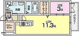 ルシアコート三矢[1階]の間取り