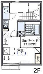JR中央線 西八王子駅 徒歩22分の賃貸アパート 1階1Kの間取り