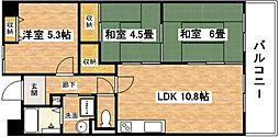 大阪府大阪市平野区喜連東5丁目の賃貸マンションの間取り